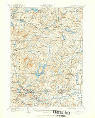 Mt. Pawtuckaway New Hampshire Historical topographic map, 1:62500 scale, 15 X 15 Minute, Year 1917