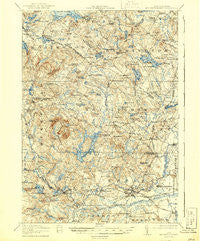 Mt. Pawtuckaway New Hampshire Historical topographic map, 1:62500 scale, 15 X 15 Minute, Year 1919
