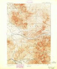 Mt. Washington New Hampshire Historical topographic map, 1:62500 scale, 15 X 15 Minute, Year 1893