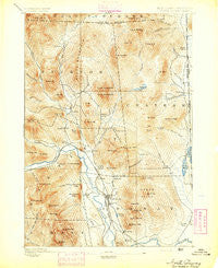 North Conway New Hampshire Historical topographic map, 1:62500 scale, 15 X 15 Minute, Year 1894