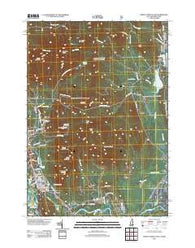 North Conway East New Hampshire Historical topographic map, 1:24000 scale, 7.5 X 7.5 Minute, Year 2012