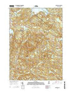 Northwood New Hampshire Current topographic map, 1:24000 scale, 7.5 X 7.5 Minute, Year 2015 from New Hampshire Map Store