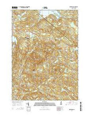 Northwood New Hampshire Current topographic map, 1:24000 scale, 7.5 X 7.5 Minute, Year 2015 from New Hampshire Maps Store