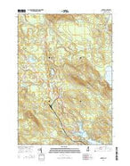 Ossipee New Hampshire Current topographic map, 1:24000 scale, 7.5 X 7.5 Minute, Year 2015 from New Hampshire Map Store