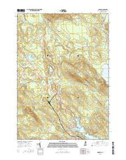 Ossipee New Hampshire Current topographic map, 1:24000 scale, 7.5 X 7.5 Minute, Year 2015 from New Hampshire Maps Store