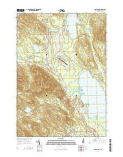 Ossipee Lake New Hampshire Current topographic map, 1:24000 scale, 7.5 X 7.5 Minute, Year 2015 from New Hampshire Maps Store