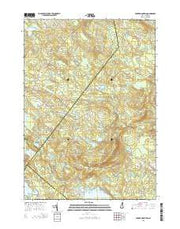 Parker Mountain New Hampshire Current topographic map, 1:24000 scale, 7.5 X 7.5 Minute, Year 2015 from New Hampshire Maps Store