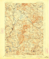 Peterboro New Hampshire Historical topographic map, 1:62500 scale, 15 X 15 Minute, Year 1900