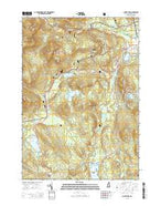 Silver Lake New Hampshire Current topographic map, 1:24000 scale, 7.5 X 7.5 Minute, Year 2015 from New Hampshire Map Store