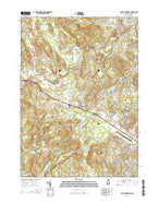 South Merrimack New Hampshire Current topographic map, 1:24000 scale, 7.5 X 7.5 Minute, Year 2015 from New Hampshire Map Store