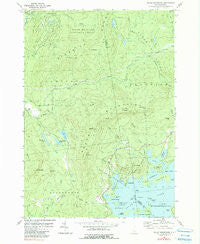 Squam Mountains New Hampshire Historical topographic map, 1:24000 scale, 7.5 X 7.5 Minute, Year 1980