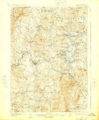 Sunapee New Hampshire Historical topographic map, 1:62500 scale, 15 X 15 Minute, Year 1907