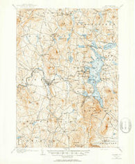 Sunapee New Hampshire Historical topographic map, 1:62500 scale, 15 X 15 Minute, Year 1902
