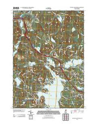 Sunapee Lake North New Hampshire Historical topographic map, 1:24000 scale, 7.5 X 7.5 Minute, Year 2012