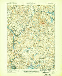 Suncook New Hampshire Historical topographic map, 1:62500 scale, 15 X 15 Minute, Year 1921