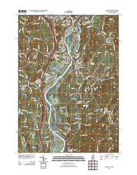 Walpole New Hampshire Historical topographic map, 1:24000 scale, 7.5 X 7.5 Minute, Year 2012