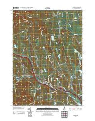 Warner New Hampshire Historical topographic map, 1:24000 scale, 7.5 X 7.5 Minute, Year 2012