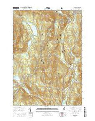 Warren New Hampshire Current topographic map, 1:24000 scale, 7.5 X 7.5 Minute, Year 2015