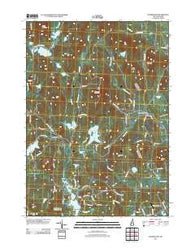 Washington New Hampshire Historical topographic map, 1:24000 scale, 7.5 X 7.5 Minute, Year 2012