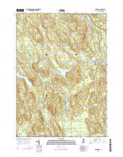 Webster New Hampshire Current topographic map, 1:24000 scale, 7.5 X 7.5 Minute, Year 2015 from New Hampshire Maps Store