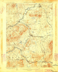 Whitefield New Hampshire Historical topographic map, 1:62500 scale, 15 X 15 Minute, Year 1900