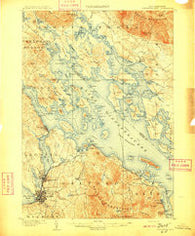 Winnepesaukee New Hampshire Historical topographic map, 1:62500 scale, 15 X 15 Minute, Year 1909