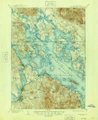 Winnipesaukee New Hampshire Historical topographic map, 1:62500 scale, 15 X 15 Minute, Year 1909