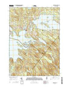 Wolfeboro New Hampshire Current topographic map, 1:24000 scale, 7.5 X 7.5 Minute, Year 2015