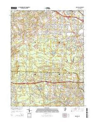 Adelphia New Jersey Historical topographic map, 1:24000 scale, 7.5 X 7.5 Minute, Year 2014