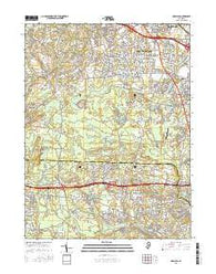 Adelphia New Jersey Current topographic map, 1:24000 scale, 7.5 X 7.5 Minute, Year 2016