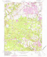 Adelphia New Jersey Historical topographic map, 1:24000 scale, 7.5 X 7.5 Minute, Year 1957