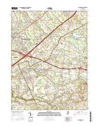 Allentown New Jersey Current topographic map, 1:24000 scale, 7.5 X 7.5 Minute, Year 2016