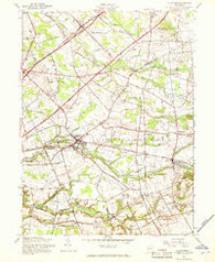 Allentown New Jersey Historical topographic map, 1:24000 scale, 7.5 X 7.5 Minute, Year 1957