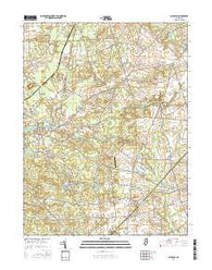 Alloway New Jersey Current topographic map, 1:24000 scale, 7.5 X 7.5 Minute, Year 2016