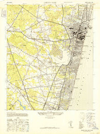 Asbury Park New Jersey Historical topographic map, 1:24000 scale, 7.5 X 7.5 Minute, Year 1943