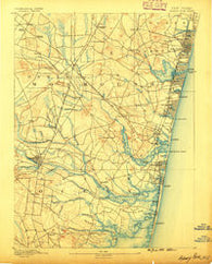 Asbury Park New Jersey Historical topographic map, 1:62500 scale, 15 X 15 Minute, Year 1888