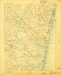 Asbury Park New Jersey Historical topographic map, 1:62500 scale, 15 X 15 Minute, Year 1893