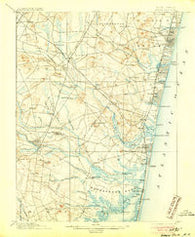Asbury Park New Jersey Historical topographic map, 1:62500 scale, 15 X 15 Minute, Year 1901