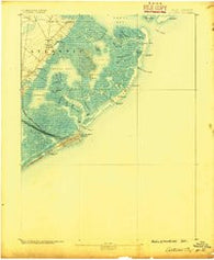 Atlantic City New Jersey Historical topographic map, 1:62500 scale, 15 X 15 Minute, Year 1887