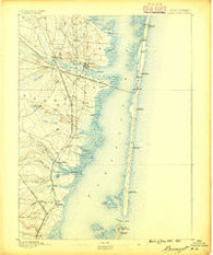 Barnegat New Jersey Historical topographic map, 1:62500 scale, 15 X 15 Minute, Year 1888