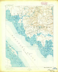 Bay Side New Jersey Historical topographic map, 1:62500 scale, 15 X 15 Minute, Year 1890