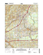 Bernardsville New Jersey Current topographic map, 1:24000 scale, 7.5 X 7.5 Minute, Year 2016 from New Jersey Map Store