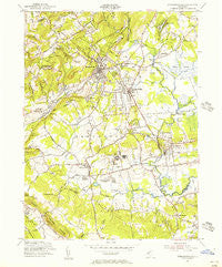 Bernardsville New Jersey Historical topographic map, 1:24000 scale, 7.5 X 7.5 Minute, Year 1954