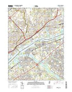 Beverly New Jersey Current topographic map, 1:24000 scale, 7.5 X 7.5 Minute, Year 2016 from New Jersey Map Store