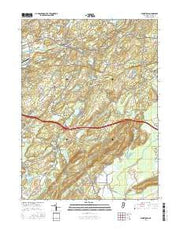 Blairstown New Jersey Current topographic map, 1:24000 scale, 7.5 X 7.5 Minute, Year 2016 from New Jersey Maps Store