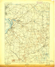 Bordentown New Jersey Historical topographic map, 1:62500 scale, 15 X 15 Minute, Year 1888