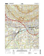 Bound Brook New Jersey Current topographic map, 1:24000 scale, 7.5 X 7.5 Minute, Year 2016 from New Jersey Map Store