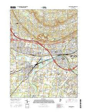 Bound Brook New Jersey Current topographic map, 1:24000 scale, 7.5 X 7.5 Minute, Year 2016 from New Jersey Maps Store