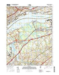 Bridgeport New Jersey Current topographic map, 1:24000 scale, 7.5 X 7.5 Minute, Year 2016
