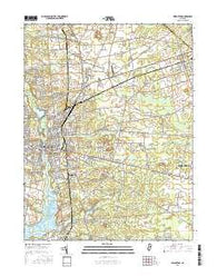 Bridgeton New Jersey Current topographic map, 1:24000 scale, 7.5 X 7.5 Minute, Year 2016